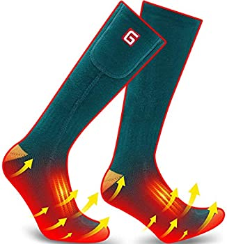 3-Pack Qilove Electric Heated Socks with 3.7V Rechargeable Battery
