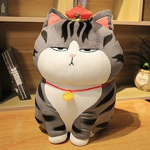 Almohada de gato de juguete de felpa de dibujos animados de 30 cm, regalos de cumpleaños para niños y niñas, compañeros de juegos para niños, muebles para el hogar, regalos para fanáticos del anime