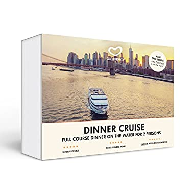 Romantic Dinner Cruise for Two in New York Experience Gift Card NYC - GO DREAM - Sent in a Gift Package