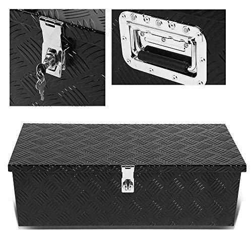 "PARTS-DIYER 30"" Black Aluminum Camper Tool Box W/ Lock Pickup Truck Bed ATV Trailer Storage"