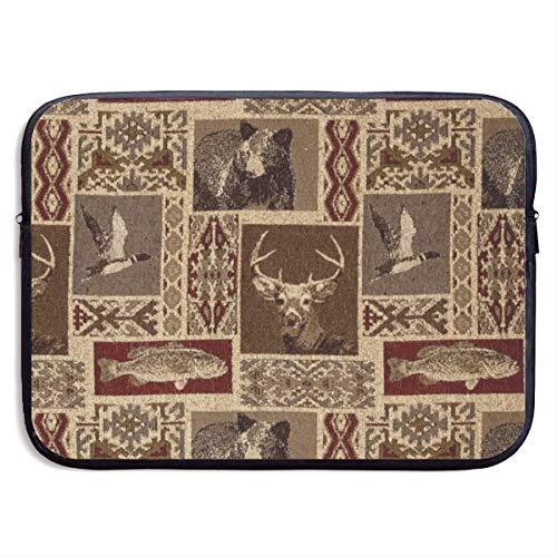 Laptop Sleeve Case Moose Bear Deer Notebook Bag Laptop Shoulder Bag Protective 15 Inch