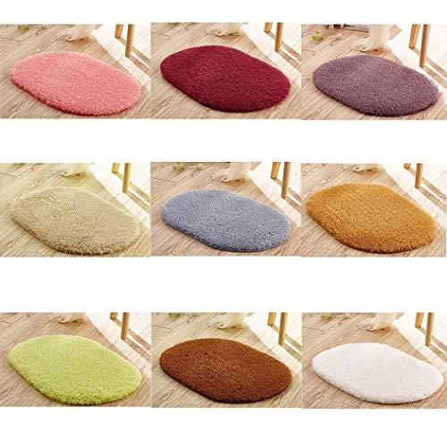 Sioneit Schlafzimmer Ovaler Teppich Wohnzimmer Badezimmer rutschfeste Fußmatte Fußmatten