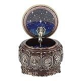 Jeffergarden Caja de música Vintage con 12 Constelaciones, Diosa giratoria, luz LED Parpadeante (Capricorn)
