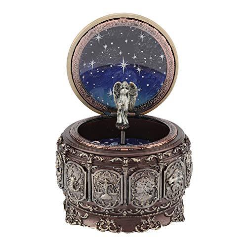 Spieluhr, Spieluhren Vintage Spieluhr mit 12 Sternbildern Rotierende Göttin Funkelnde LED-Lichtharz Geburtstage Graduierungen Home Decoration (Capricornus)