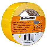 Tarifold 1 Cinta Adhesiva Suelo, Señalización, Seguridad, color Amarillo-Rollo 50mm x 33m, 50 mm x 33 M