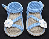 Patucos Sandalias modelo D`Italia para bebé de crochet, de color a elegir con...