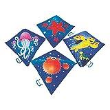 Fun Express - Sea Life Kites - Toys - Active Play - Flying Discs & Kites - 12 Pieces