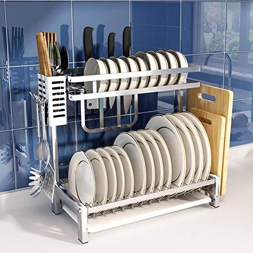 ZYH-shelf Geschirrtrockner-Gestell, 304 Edelstahl-Speicher-Regal-Geräte, Die Halter-Küchen-Gegenoberseiten-Organisations-Gestell Mit Essstäbchen-Gestell Trocknen
