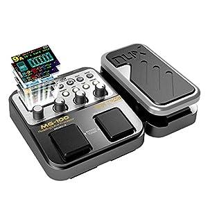 MG-100 Multieffetto Pedale Professionale Processore di Strumenti Musicali 40s Record 55 Effetti Modalit¨¤ 10 Sound Di…
