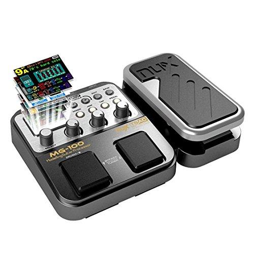 E-Gitarren Multieffekte Asmuse NUX MG 100 Professionel Multi Effekt Pedal Prozessor Looper EFX Amp EQ Mixer Instrument Bass Westerngitarre mit Netzteil Tragbare (EU Plug)
