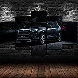 45Tdfc 5 Unidades Pictures Black 2020 Toyot Rav4 Hybrid Car Painting Home Decor Modern Wall Art Canvas HD Prints Frame Modular Poster