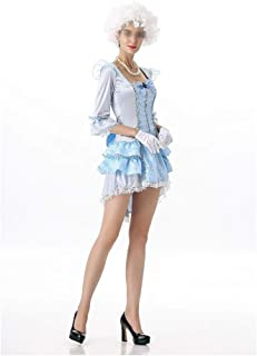 New Queen of Halloween Dress Party Equipment Installed at A Royal Court Dance Clothing (Color : Blue, Size : One Size)
