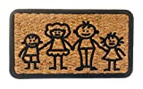 Felpudo Coco Natural Rectangular con Goma Antideslizante (Family)