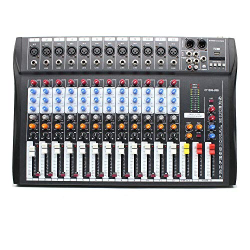 12 Channels Mic Line Audio, 120S-USB Professional Mixer Mixing Console Input 3-band EQ 48V Phantom Power Audio Mixer Sound Board Console, Digital Mixing Console for Party, Bar, Dj. Buy it now for 168.99