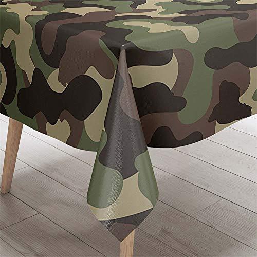 Himlaya Rectangular Manteles Mesa,3D Impresión Manteles Impermeable Mantelerias Antimanchas Lavable Mantel de Mesa para Hogar Salón Cocina Comedor Decoración (Camuflaje Verde,60x60cm)