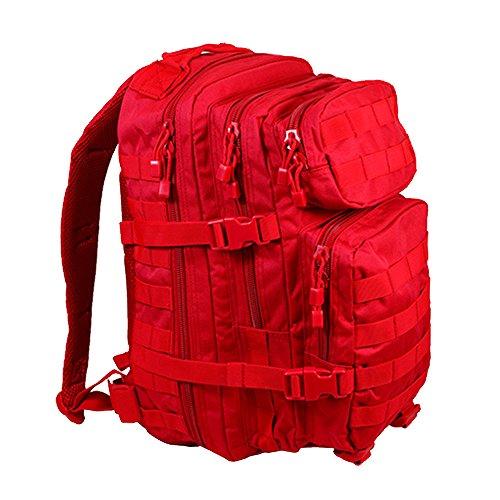 Mil-Tec Military Army Patrol MOLLE Assault Pack Taktischer Rucksack Tasche 20L Signal Rot