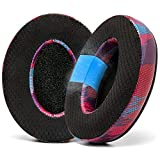 WC Freeze Hybrid Fabric Cooling Gel Replacement Earpads for ATH M50X - Compatible with ATH M40X / M50XBT / HyperX Cloud 1 & 2 / SteelSeries Arctis 3/5 / 7 / 9X & Pro/Stealth 600 & More (Speed Racer)