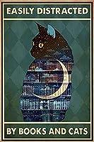 レトロおかしい金属錫サイン8 x 12インチ(20 * 30 cm)子猫 ブリキ看板警告通知パブクラブカフェホームレストラン壁の装飾アートサインポスター(gs-1-218)