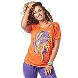 Zumba Camiseta de Entrenamiento Transpirable con diseño gráfico para Mujer X-Pequeña Cha-cha Cereza
