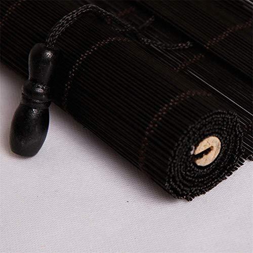 Renqian rolluiken voor ramen, bamboe, met uv-bescherming, milieuvriendelijk, voor balkon, tuin, in de open lucht