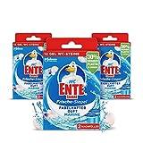 WC-Ente Ricarica per sigilli freschi, senza cestini, 3 x 12 pietre per WC in gel, profumo marino, confezione da 3 (3 x 72 ml)