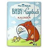 Mein 1. Kalender Baby Tagebuch Babyalbum mit Entwicklungsberater Babyratgeber Geschenk zur Geburt 365 Tipps und Ratschläge A5 Blau