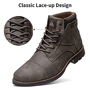 Mishansha Women's Hiking Boots Walking Waterproof Fashion Men's Trekking Ankle Shoes Casual Slip On Grey 8 Women/6.5 Men