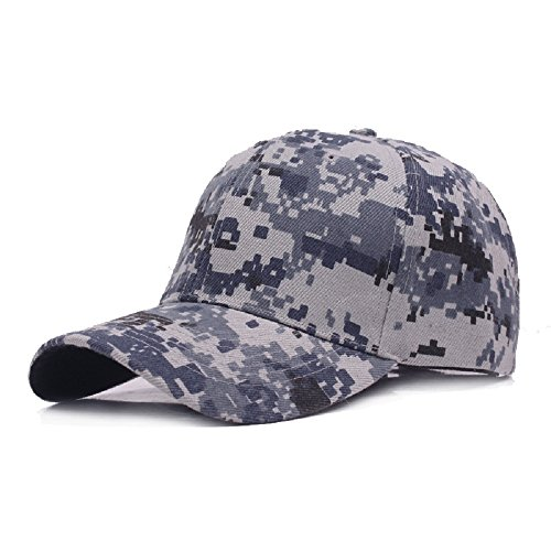 Dosige 1PCS Verstellbarer Baseball-Hut Camouflage-Hut Baseball Cap Camouflage Mütze Flat Eaves Cap Freizeit Baseball Hat Unisex (Camouflage B)