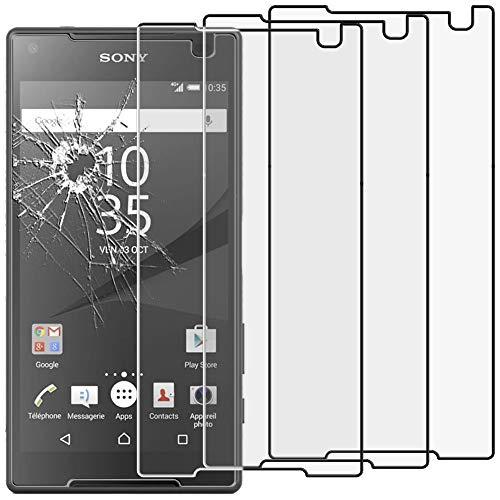 ebestStar - kompatibel mit Sony Xperia Z5 Compact Panzerglas x3 Schutzfolie Glas, Schutzglas Bildschirmschutz, Bildschirmschutzfolie 9H gehärtes Glas [Phone: 127 x 65 x 8.9mm, 4.6'']