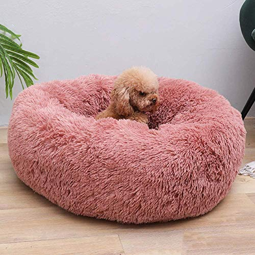 JWCN Plüsch Donut Haustier Bett Weiches rundes Hundebett Waschbares Haustier Hund Schlafkissen Tragbare Katzen Nest Bett I 90x90cm (35x35inch)-E_40 x 40 cm (16 x 16 Zoll) Uptodate