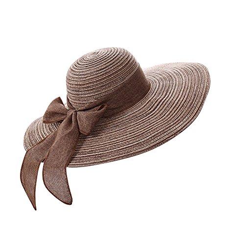 Gladiolus Damas/Chicas Sombrero de Verano/Grande Sombrero de Playa/Sombrero de Sol para Viajes/Outdoor
