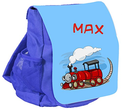 Kindergartenrucksack Bambini mit Name Kinderrucksack CityBag Lokomotive / Zug