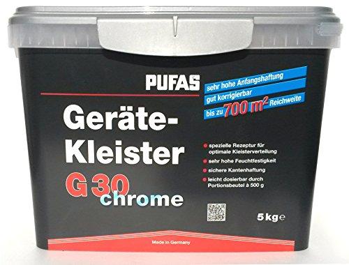 PUFAS G30 chrome Gerätekleister, 5-kg-Eimer mit 10 Portionsbeuteln – für bis zu 700 m²