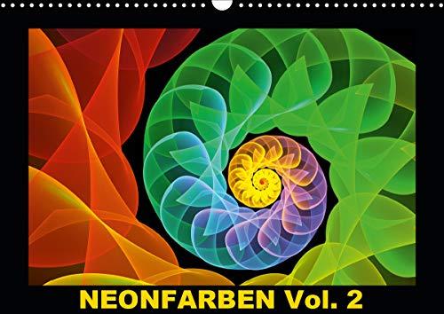 Neonfarben Vol. 2 / CH-Version (Wandkalender 2021 DIN A3 quer)
