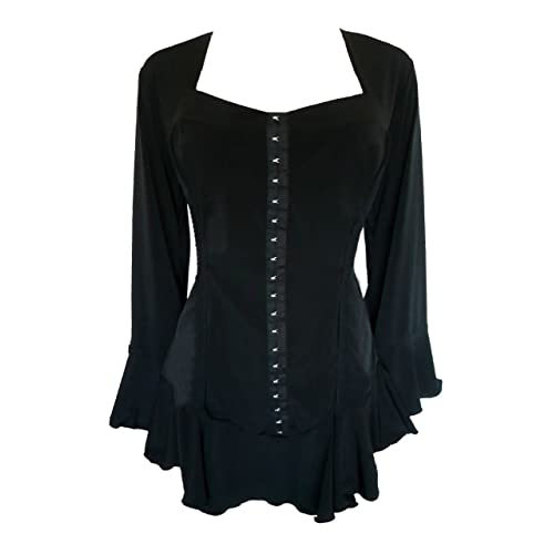 d02e55002ed67 Dare to Wear Victorian Gothic Boho Women s Plus Size Corsetta Corset Top