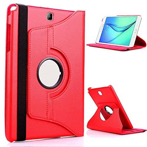 LIUCHEN Funda de tabletaPU Leather S2 8.0 SM-710 Funda para Tableta con imán Inteligente para Samsung Galaxy Tab S2 8.0 & quot;T710 T715 T719 Protector de Despertador / sueño, para T710 Rojo