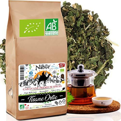 Nabür - Tisane ortie piquante Bio 205 gr 🌴 Tisane Feuille d'Ortie Bio - Vitamine, Fer, Minéraux   Tisane Diurétique bio