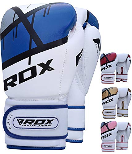 RDX Ego Boxing Gloves Maya Hide Leather Sparring Punching Bag Mitts