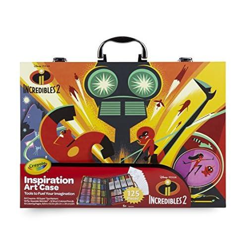 CRAYOLA- Disney Gli Incredibili 2 Valigetta dell'Artista per Colorare e Disegnare, Colore Assortito, 5.2 x 39.4 x 27.9 cm, 516910