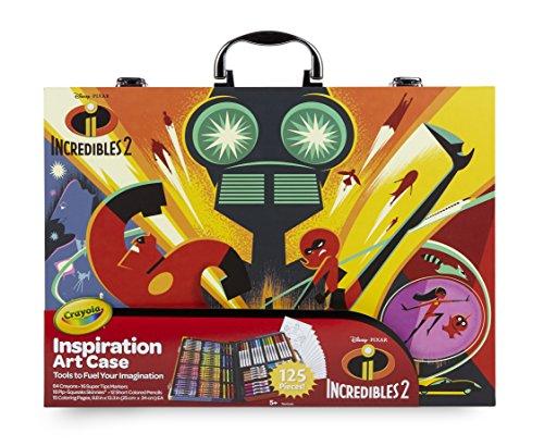 Crayola – Disney De ongelooflijke 2 koffers van de kunstenaars-schilderijen en tekenen, voor spel en geschenk, diverse kleuren, 120 stuks Art & Craft, 04 – 3315