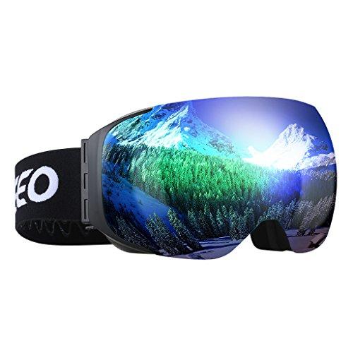 ENKEEO - Gafas de Esquí, de Snowboard (Lente de Dual Capa Anti-Niebla,...