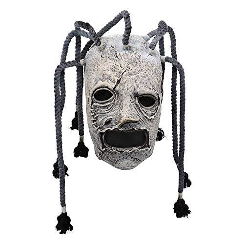 N\C Máscara de Halloween Unisex Adulto Slipknot Joey Máscara Carnaval Cosplay Disfraz Película Corey Taylor Máscaras Máscaras de Halloween Mujer Hombre Accesorios de Juego de Roles