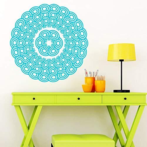 sanzangtang Mandala bloemenmotief, muurstickers, behang, decoratie, vinyl, aerobic