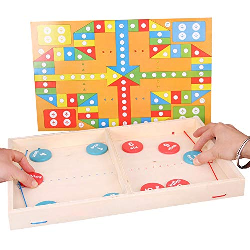 Lfhing Schnelles Sling Puck Spiel Tempo Gewinner Brettspiel Familienspiele Spielzeug für Erwachsene Kinder Kinder