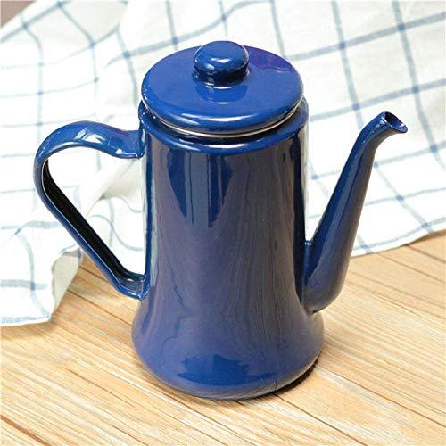 LZZ Juego de té de Tetera Resistente al Calor Teteras exóticas,Tetera de Esmalte Grande 1.1L Cafetera de Esmalte esmaltado,Tetera Jarra de Aceite Teteras Teteras Regalos presentes,Juego de té
