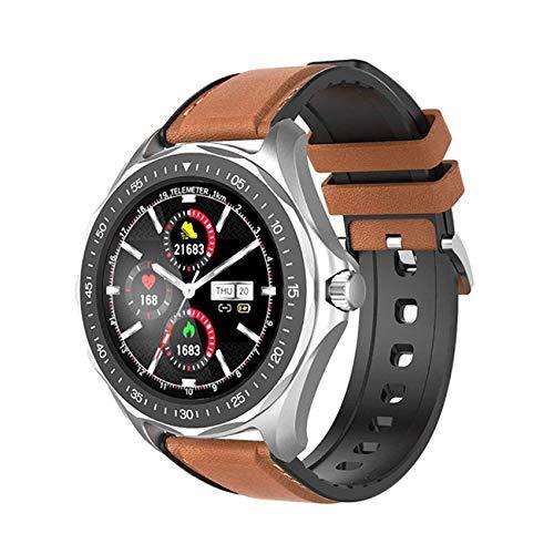 Relógio SmartWatch BlitzWolf® BW-HL3 c/Modos Esportivos e Mensagens - À Prova D'água (IP68), Bluetooth 5.0, Full Touch e Sensor de Batimentos Cardíacos - Lançamento, já no Brasil! Marrom!!!