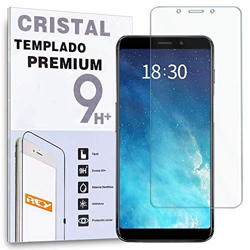 REY Protector de Pantalla para MEIZU M6s, Cristal Vidrio Templado Premium