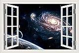 Universo espacial cuerpo celeste galaxia estrella agujero negro etiqueta de la pared planetas papel pintado dormitorio decoración del hogar sala de estar ventana 3D paisaje calcomanía mural