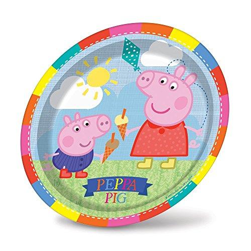 Plaques Peppa Pig Party, Lot De 8