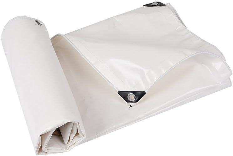 Yuke Toile de Prougeection Anti-Pluie Robuste pour bache de Prougeection pour bache de Prougeection pour auvent de bache imperméable avec Oeillets, Blanc, 500g   M2 (Taille   4  6m)